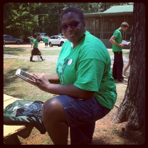 Camp Fasola instructor Bridgett Hill Kennedy at Youth Camp, 2013.