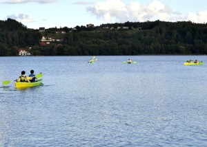 Canoeing in Lake K?odno at Europe Camp, 2012.