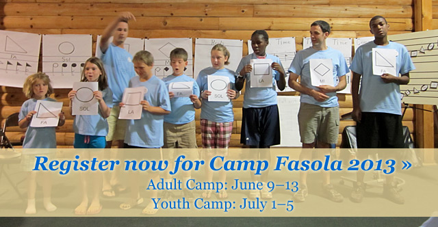 Register for Camp Fasola 2013